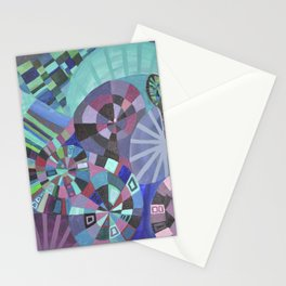 "Moo's Mom's art ""Purple Swirl"" Stationery Cards"