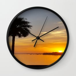 Sunrise at the Inlet Wall Clock