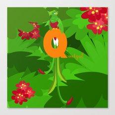 q for quetzal Canvas Print