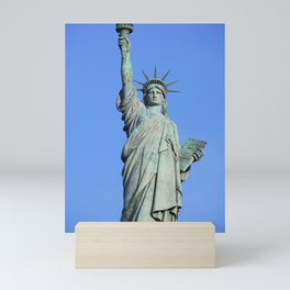 A bronze replica one-fifth the size of the Statue of Liberty commissioned by Frank Park Samford as t Mini Art Print