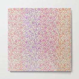 Rainbow Ditsy Flowers Metal Print