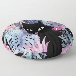 Popoki (Pastel Black Velvet) Floor Pillow