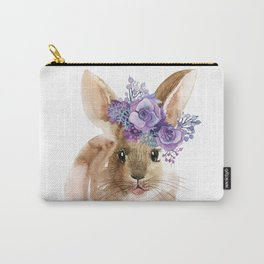 Little bunny in Wreath Carry-All Pouch