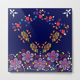 Dusky Florets Metal Print