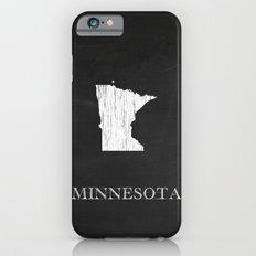 Minnesota State Map Chalk Drawing Slim Case iPhone 6
