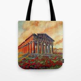 Paestum ancient Greek temple Tote Bag