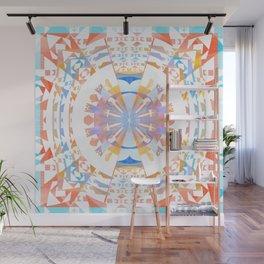 Rainbow Earth Souls Healing Mandala Wall Mural