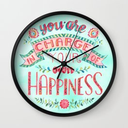 You are in Charge Wall Clock