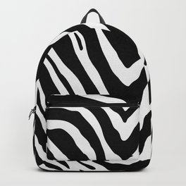 Zebra Stripes in Black and White Backpack