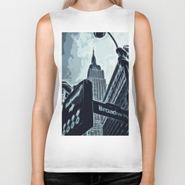 Streets of New York - Broadway view Biker Tank