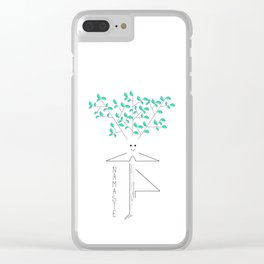 Tree yoga pose drawing Clear iPhone Case