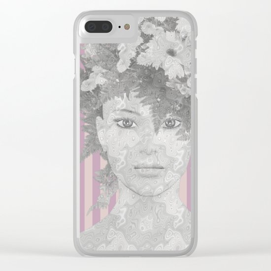 Look at me (romantic flowers vintage) Clear iPhone Case