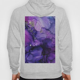 Violet Magenta Chrome - Abstract Ink Hoody