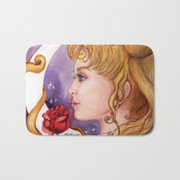 Princess Serenity art nouveau Bath Mat
