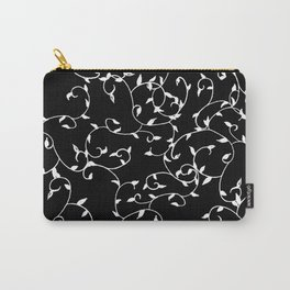 Modern Scattered Leaves (White) Carry-All Pouch