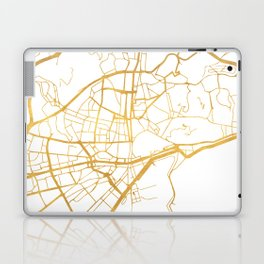 MALAGA SPAIN CITY STREET MAP ART Laptop & iPad Skin