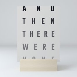 And Then There Were None Mini Art Print