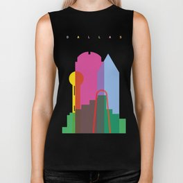 Shapes of Dallas. Accurate to scale. Biker Tank