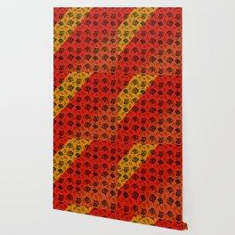 Ginkgo Pattern on Stripe Gradient Wallpaper