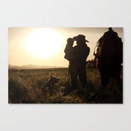 Butte Sunset Canvas Print