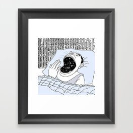 man and the cosmos Framed Art Print