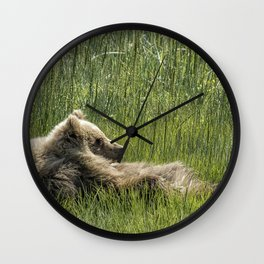 Drifting Off - Bear Cubs, No. 7 Wall Clock