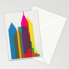 Shapes of Atlanta. Accurate to scale Stationery Cards
