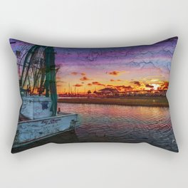 Beaufort North Carolina Grunge Sunset Rectangular Pillow