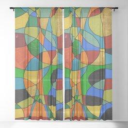 Abstract #148 Sheer Curtain