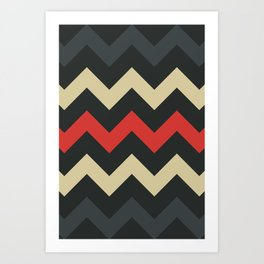 Lava Flow Chevron Art Print