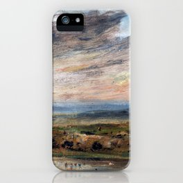 John Constable Hampstead Heath, with Pond and Bathers iPhone Case