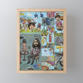 Lonely Hearts, Rubber Soul & Magical Yellow Submarine Tour Framed Mini Art Print