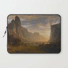 Looking Down Yosemite Valley California By Albert Bierstadt | Reproduction Painting Laptop Sleeve