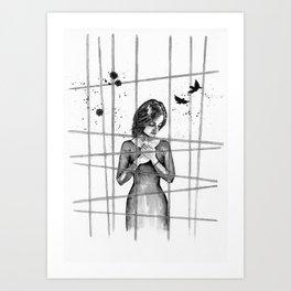 Caged bird Art Print