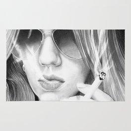Alisa smoking Rug