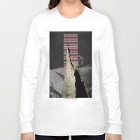 meditation Long Sleeve T-shirts featuring meditation by Ashley Moye