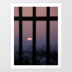 Sunrise prison Art Print