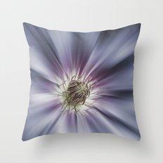 Blue Satin Throw Pillow