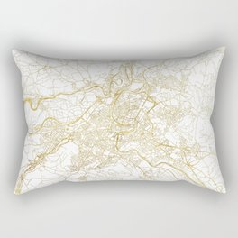 Bern Map Gold Rectangular Pillow