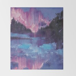 Glitched Landscapes Collection #4 Throw Blanket