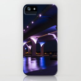 Lesner Bridge at Night iPhone Case