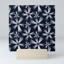 Fragmented Burst in B&W Mini Art Print