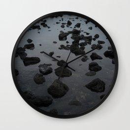Mirrored Rocks Wall Clock
