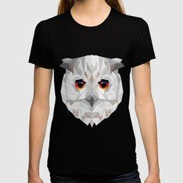 Geometric White Owl T-shirt