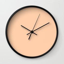 From Crayon Box – Peach Pastel Orange Solid Color Wall Clock