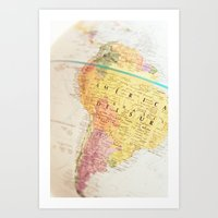 maps Art Prints featuring Maps by Caroline Mint