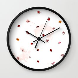 Love Ladybugs Wall Clock