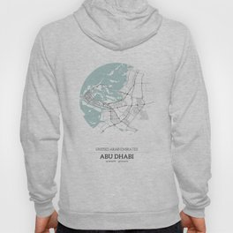 Abu Dhabi City Map with GPS Coordinates Hoody