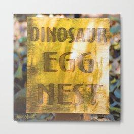 Dinosaur Egg Nest Metal Print