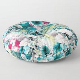 Blue Garden Floor Pillow
